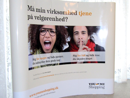 """CSR event <br/> <span style=""""font-size:13px;"""">Messevæg og roll-up bannere</span>"""