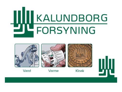 Kalundborg Forsyning Fuld designlinje, logo, biler og meget mere