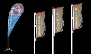 Flag, reklameflag, beachflag, design af flag, logotryk på flag