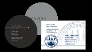 Visitkort og brevpapir