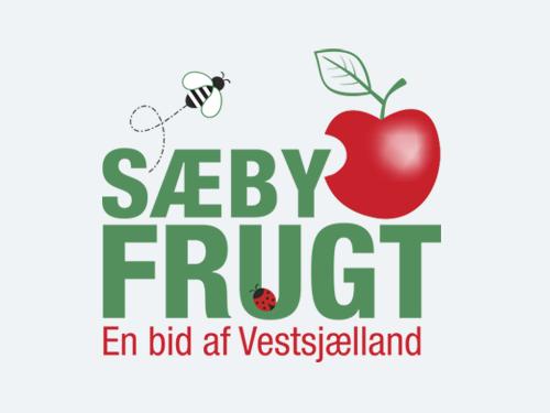 """Sæby Frugt<br/> <span style=""""font-size:13px;"""">Redesign af logo</span>"""